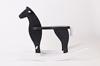 DREWNIANY, czarny koń na białych biegunach, POLSKI HANDMADE