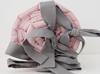 Ochraniacz gładki różowy z grafitowymi kokardami, Dolly