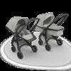 Wózek Greentom 2w1 CARRYCOT + REVERSIBLE eko czarno-szary